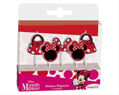 Minnie Roja Velitas Figuras Discovery, Minnie Mouse, Create, Candles, Red
