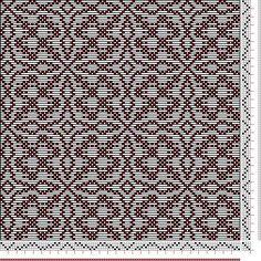 Hand Weaving Draft: Threading Draft from Divisional Profile, Tieup: , Draft #8776, Threading: Weber Kunst und Bild Buch, Marx Ziegler, (1677) # 23, Treadling: Weber Kunst und Bild Buch, Marx Ziegler, (1677) # 23, Draft #61115, Threading: Weber Kunst und Bild Buch, Marx Ziegler, (1677) # 22, Treadling: Weber Kunst u, 4S, 4T - Handweaving.net Hand Weaving and Draft Archive