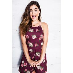 Lucy Hale Designs Hollister Collection, Wants To 'Live In Sweatpants' ❤ liked on Polyvore featuring lucy hale, girls and pretty little liars