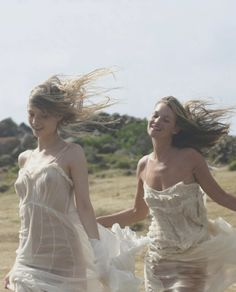 Kate Moss and Inga Serbent for Anais Anais