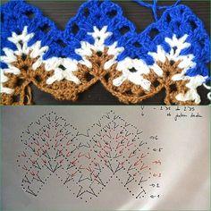 Вязание и не только.Новичкам и мастерам. — № 2 Узоры крючком | OK.RU Crochet Doily Patterns, Crochet Doilies, Crochet Stitches, Stitch Patterns, Missoni, Crochet Necklace, Projects To Try, Blanket, Mothers
