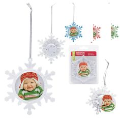 The perfect gift when a little goes a long way, these promotional snowflakes have a photo slot the ornament that keeps on giving! Add your logo or message to the bottom of these snowflakes for an adorable gift. Custom Christmas Ornaments, Snowflake Ornaments, Snowflakes, Embroidery Blanks, Machine Embroidery, Embroidery Supplies, Embroidery Designs, Blue Led Lights, Christmas Embroidery