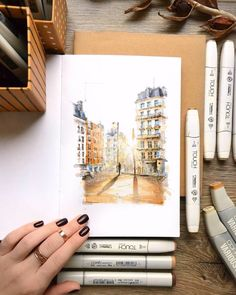 15 Amazing Drawings that Will Blow Your Mind - Amazing Drawing of Places – Paris // Drawing ideas, art journal, drawing inspirati - 3d Drawings, Amazing Drawings, Realistic Drawings, Beautiful Drawings, Paris Drawing, Bubble Drawing, Art Inspiration Drawing, Drawing Ideas, Drawing Art