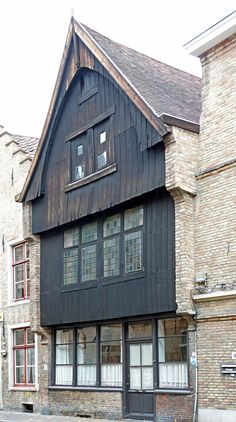 My photos are FREE to use, just give me credit and it would be nice if you let me know, thanks. One of the last two original wooden facades of Bruges. Brugges Belgium, Belgium Bruges, Wooden Facade, Medieval Gothic, Cottage, Beautiful Buildings, Luxembourg, Facades, Netherlands