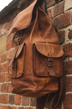 Leather Backpack Messenger Bag Handmade Soft Leather Mens Unisex School College Satchel Handbags/Bags Picnic Weekend bag Satchel on Etsy, $74.00