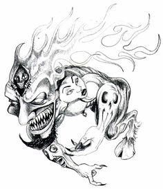 flame-head-tattoo-tattoo-design