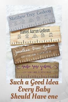 Such a good ideas wish I'd thought of it #ad Custom Wooden Birth Ruler - Modern Style with Birth Stat Icons - Newborn Baby Gift