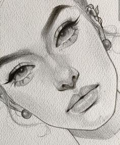 This is magnificent: those eyes : real sketch so beautiful. Dark Art Drawings, Girly Drawings, Pencil Art Drawings, Realistic Drawings, How To Shade Drawings, Girl Drawing Sketches, Face Sketch, Portrait Sketches, Pencil Sketches Of Girls