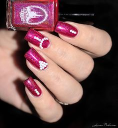 China Glaze First & Last + Enchanted Polish Holo Pink