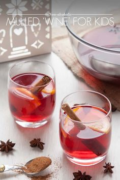 Non alcoholic mulled wine for kids!