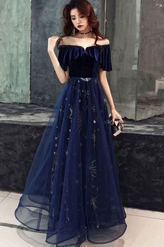 ball gown made of dark blue tulle lace, blue evening dress by Girl - . Long ball gown made of dark blue tulle lace, blue evening dress by Girl - .Long ball gown made of dark blue tulle lace, blue evening dress by Girl - . Blue Evening Dresses, Prom Dresses Blue, Evening Gowns, Sexy Dresses, Summer Dresses, Dark Blue Dresses, Homecoming Dresses, Long Dresses, Dress Long