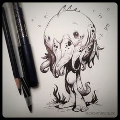 A little squid therapy for a very crazy week. #inksketches
