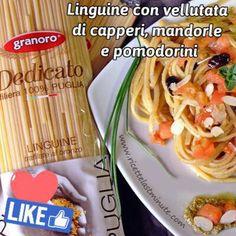 #Linguine con #vellutata di #capperi, #mandorle e #pomodorini ☺️ con la collaborazione di +Pasta Granoro   Trovate la ricetta qui --> http://www.ricettelastminute.com/ricette/79-primi-piatti/1371-linguine-con-vellutata-di-capperi-mandorle-e-pomodorini  #ricette #ricetta #pranzo #venerdi #italia #italy #sicilia #sicily #puglia #food #foods #foodie #foodgasm #foodpics #foodporn #foodphoto #foodphotography