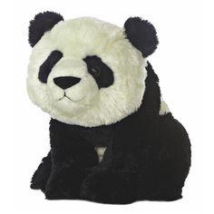 Destination Nation Panda Bear Stuffed Animal by Aurora at Stuffed... ($13) ❤ liked on Polyvore featuring stuffed animals, panda and toy