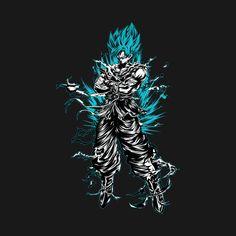 Awesome 'Super+Saiyan+Goku+God+-+TS00207' design on TeePublic!
