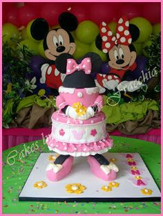 TORTA DECORADA DE MINNIE | TORTAS CAKES BY MONICA FRACCHIA