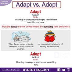 Common Mistakes - Adapt vs. Adopt