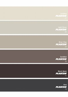 ^= ❤ Plascon Essential Collection ~ The Neutrals: Greys Exterior Paint Colors For House, Interior Paint Colors, Paint Colors For Home, Exterior Colors, Plascon Paint Colours, Greige Paint Colors, Brown Paint, Grey Paint, Pallet Painting