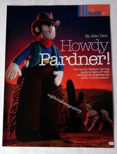 Alan Dart - Howdy Partner - Western Cowboy Knitting Pattern Toy or Gift