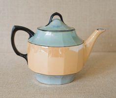 Art Deco Atlantic Bavaria Lusterware Teapot by MyAffordableVintage