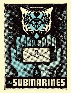 GigPosters.com - Submarines ::: Poster by Aesthetic Apparatus ::: www.dutchuncle.co.uk