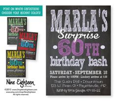 Surprise Birthday Party Invitation Adult Custom By NineEighteen Designed Nine Eighteen Designs I Design And You Print On Regular