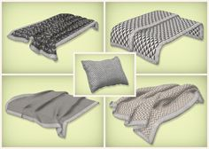 Simsrocuted : This is a set of neutral beddings, blankets and pillows.