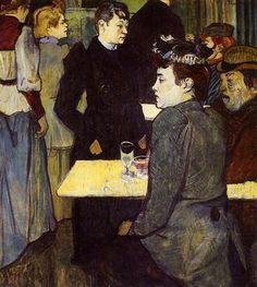 A Corner in the Moulin de la Galette by Henri De Toulouse-Lautrec - Canvas Art Print Henri De Toulouse Lautrec, Henri Matisse, Cabaret, Van Gogh, Impressionism Art, Oil Painting Reproductions, Le Moulin, Galette, Famous Artists