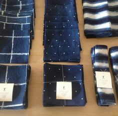 A new batch of Growing Indigo for Early Birds in Tokyo. Japanese Fabric, Couture, Blue Tones, Indigo Blue, Shibori, Surface Design, Favorite Color, Tie Dye, Textiles