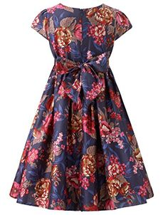Monsoon Girls Berry Print Dress Size 9 Years Navy  - Click image twice for more info - See a larger selection of play wear dresses at http://girlsdressgallery.com/product-category/play-wear-dresses/- kids, toddler, kids dresses, little girls, dress, casual dress, little girls fashion, gift ideas