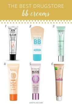 BB creams have made a huge impact on the beauty world in recent years due to their many skin benefits. Here are 6 of the best drugstore BB creams: