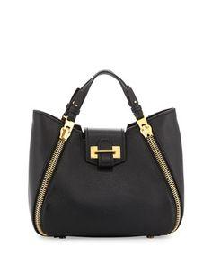 Sedgwick Mini Zipper Tote Bag, Black by TOM FORD at Neiman Marcus.