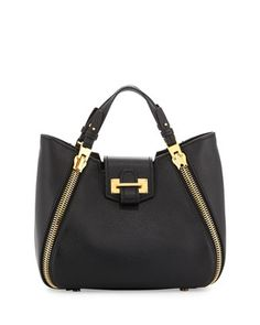 Sedgwick Mini Zipper Tote Bag, Black by Tom Ford at Neiman Marcus.