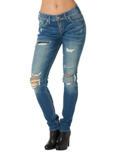 Silver Suki Distressed Skinny Jean from Chocolate Shoe Boutique
