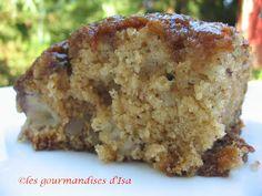 Les gourmandises d'Isa: GÂTEAU AUX POMMES ET AUX PACANES, SAUCE CARAMEL