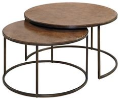 Hammary Soho Round Cocktail Table in Khaki traditional-coffee-tables