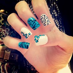 nail art maybe pink instead of blue