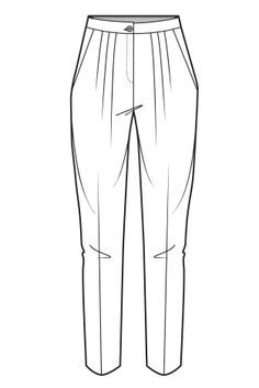 technical flat of a sheer pants - Google Search