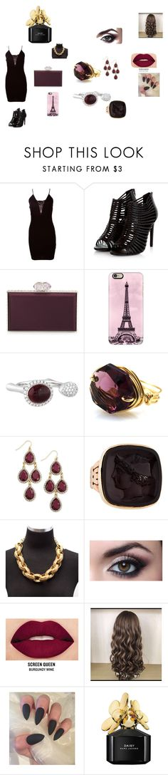 Sem título #203 by brunagzilli on Polyvore featuring moda, Judith Leiber, Oscar de la Renta, INC International Concepts, Casetify, Smashbox and Marc Jacobs