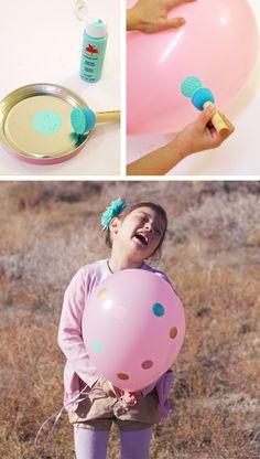 DIY Painted Polkadot Balloons