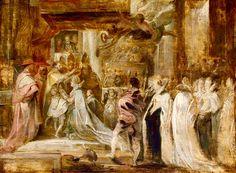 Coronación de María de Medici como Reina de Francia el 13 de Mayo de 1610, estudio por Rubens