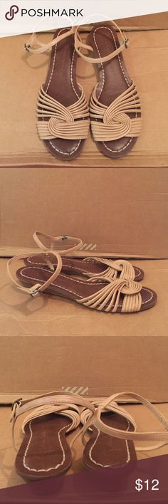 """American Eagle Braided Wedge Sandal American Eagle Braided Wedge Sandal NWOT                   Color: Nude                                                             Size: 10                                                                     Style: 599152345                                                          Heel Height: 1""""                                                        Composition: All Manmade Materials American Eagle Outfitters Shoes Sandals"""