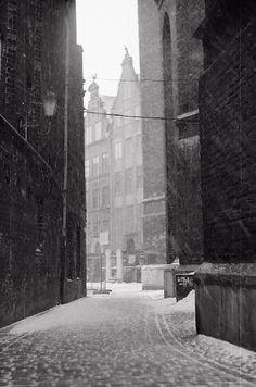 Gdańsk, Mariacka street at Winter