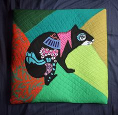 Agouti, Ñeque, nyeke, pillow, textile, recycle, Panama