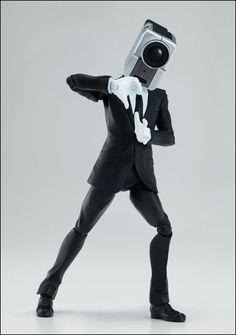 「NO MORE 映画泥棒」のカメラ男とパトランプ男をバンダイが可動フィギュア化、ダンス・撮影・逃走・確保がやりたい放題 - GIGAZINE