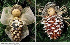 11 Adornos navideños para hacer con piñas ~ Solountip.com                                                                                                                                                                                 Más