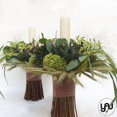 Lumanari cununie scurte grau lavanda anigozanthos - LC48 Flower Decorations, Wedding Decorations, Table Decorations, Flower Power, Wedding Flowers, Floral Design, Design Inspiration, Concept, Candles
