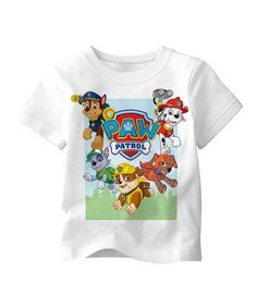 Another great find on #zulily! White PAW Patrol Tee - Toddler #zulilyfinds