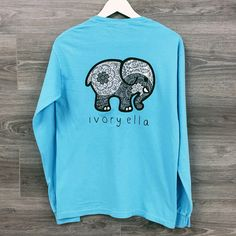 133628644ed7 Blue Ivory Ella Loose Long Sleeve T Shirt Shelly Cove, Blue Long Sleeve  Shirt,