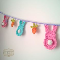 This cute crochet bunting would be a perfect decorative touch for Easter or even for a child's bedroom.